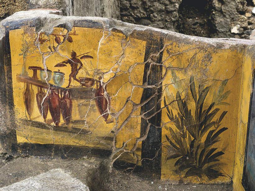 Pozostałości ulicznego baru z Pompejów
