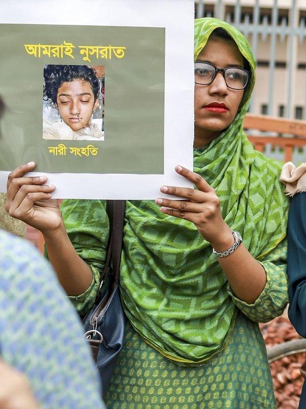 protesty w Bangladeszu po śmierci Nusrat Jahan Rafi