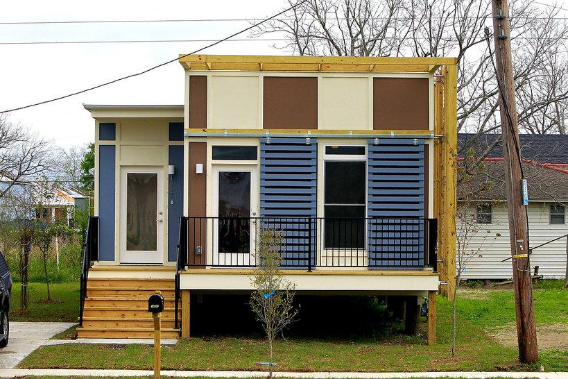 przykładowy dom w Nowym Orleanie zbudowany przez fundację Brada Pitta Make It Right, 2012