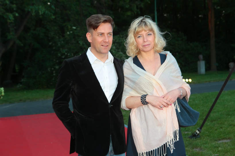 Rafał Królikowski z żoną