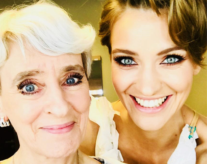 Renata Kaczoruk z mamą