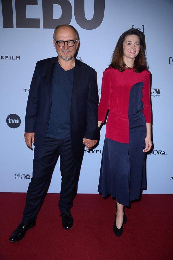 Reżyser Dariusz Gajewski i Agnieszka Grochowska na premierze filmu