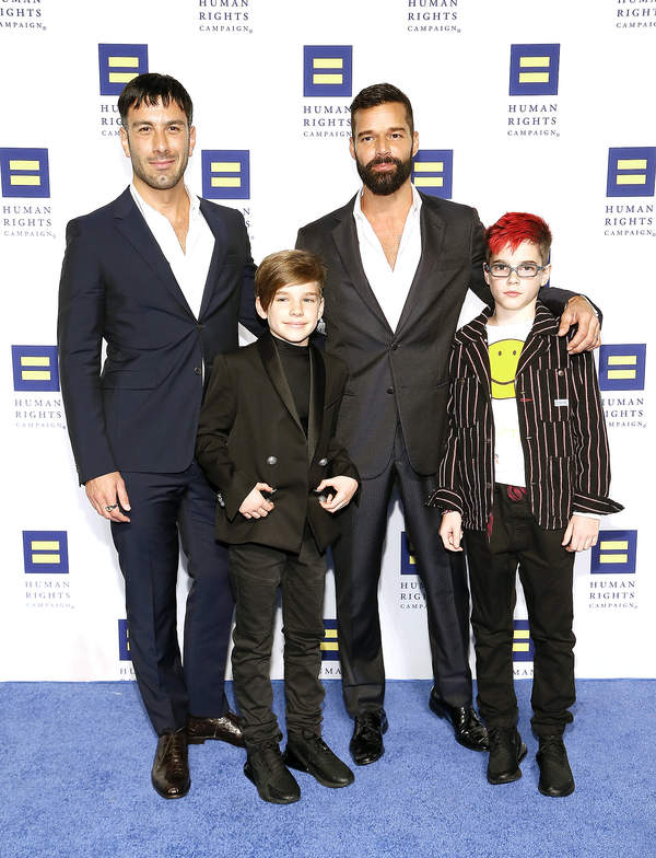Ricky Martin, Jwan Yosef z dziećmi, dzieci Rickiego Martina