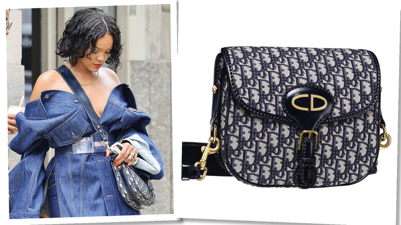 Rihanna z torebką Dior Saddle Bag