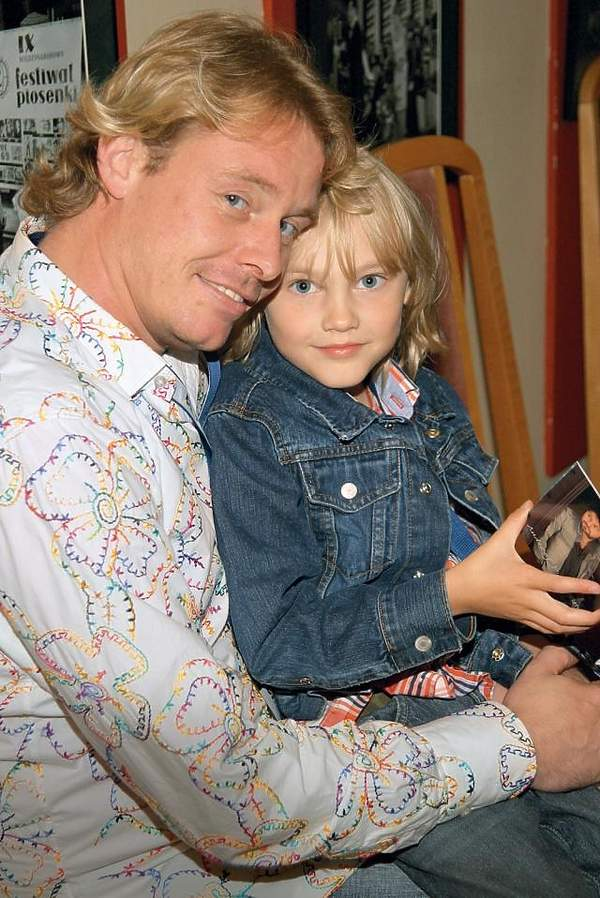 Rinke Rooyens z synem Rochem