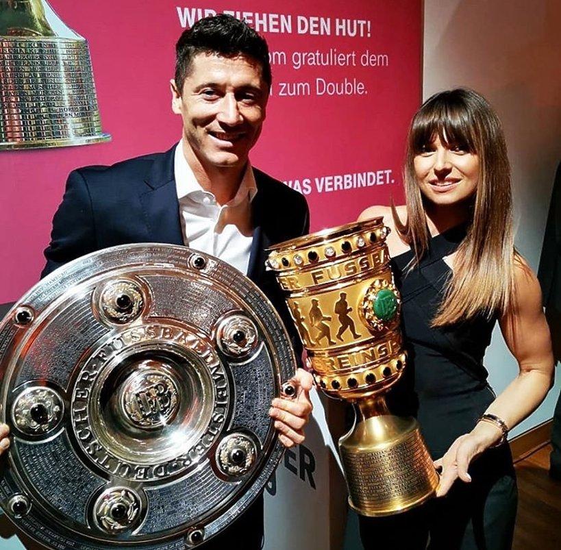 Robert Lewandowski, Anna Lewandowska, Puchar Niemiec finał