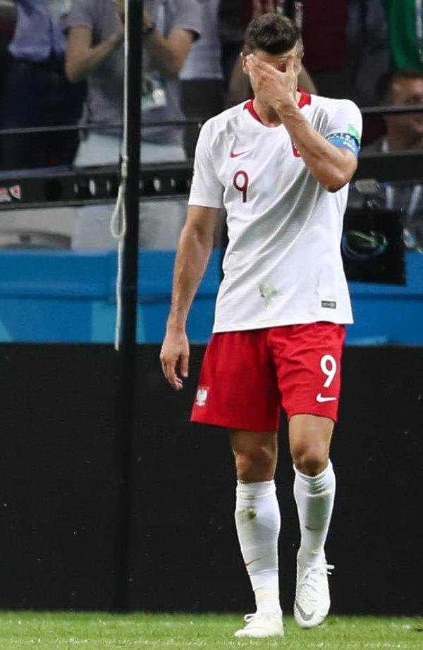 Robert Lewandowski, mecz Polska - Kolumbia