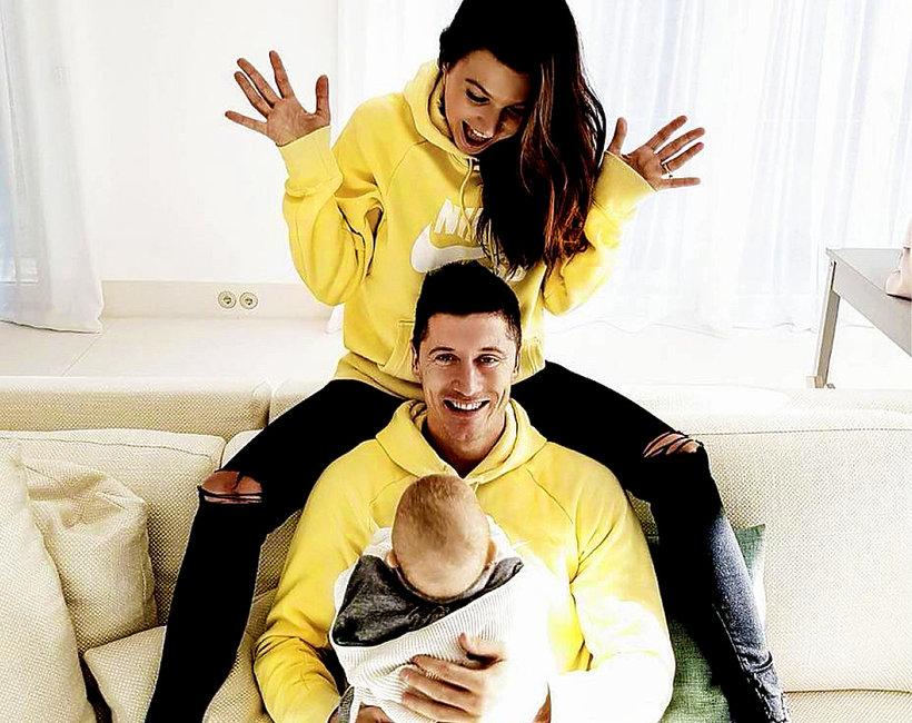 Robert Lewandowski z córką