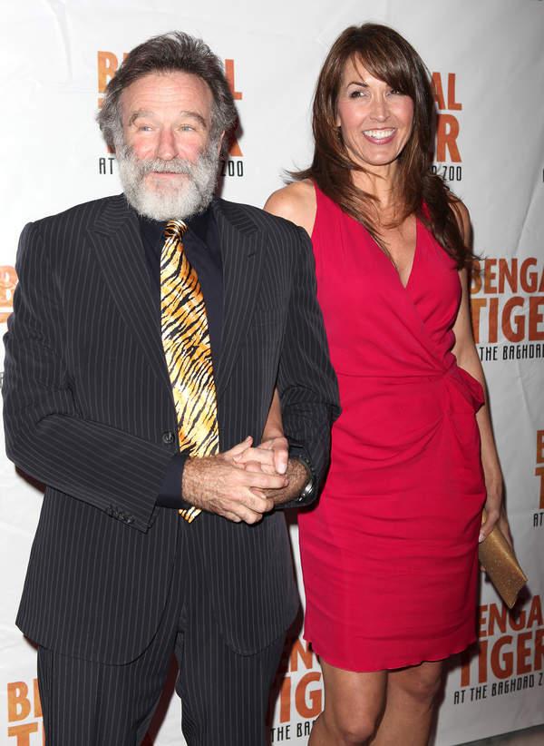 Robin Williams z żoną Susan Schneider