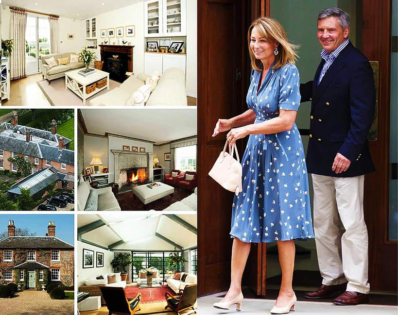 Rodzice Kate Middleton mieszkaja w palacu 2020