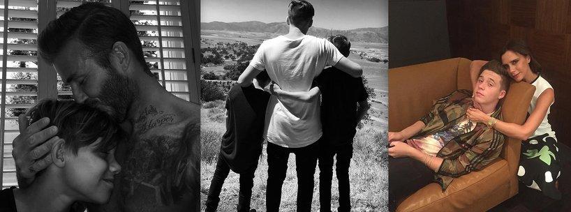 Rodzina Beckhamów okazuje sobie czułość