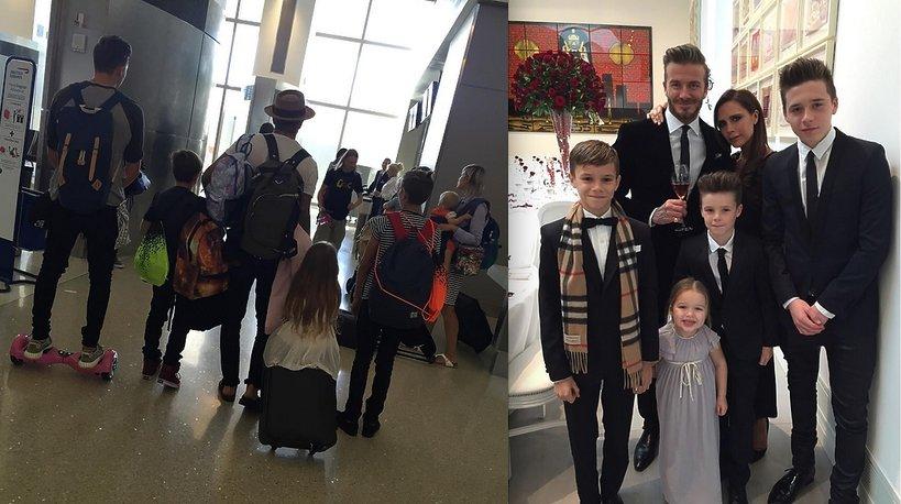 Rodzina Beckhamów w komplecie