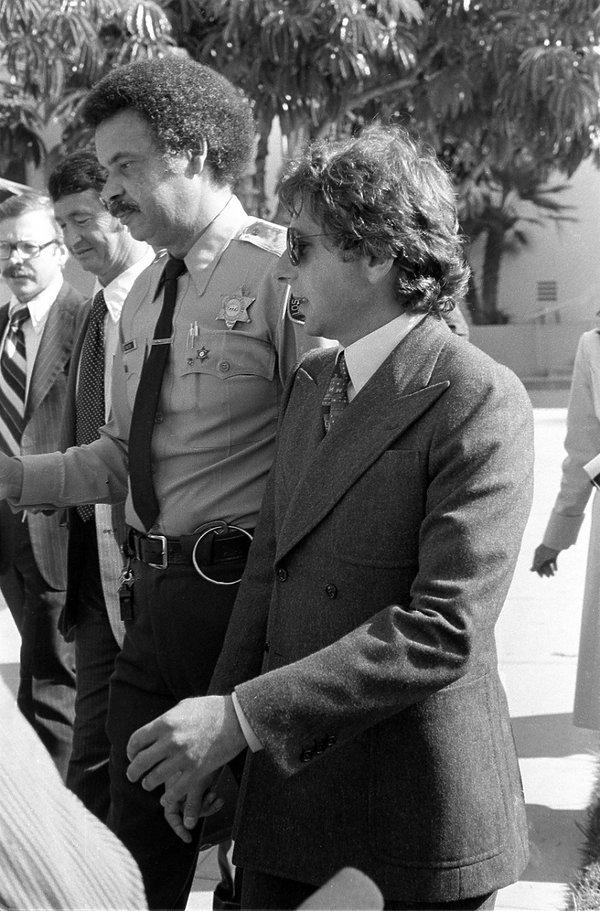 Roman Polański w drodze do sądu w Los Angeles
