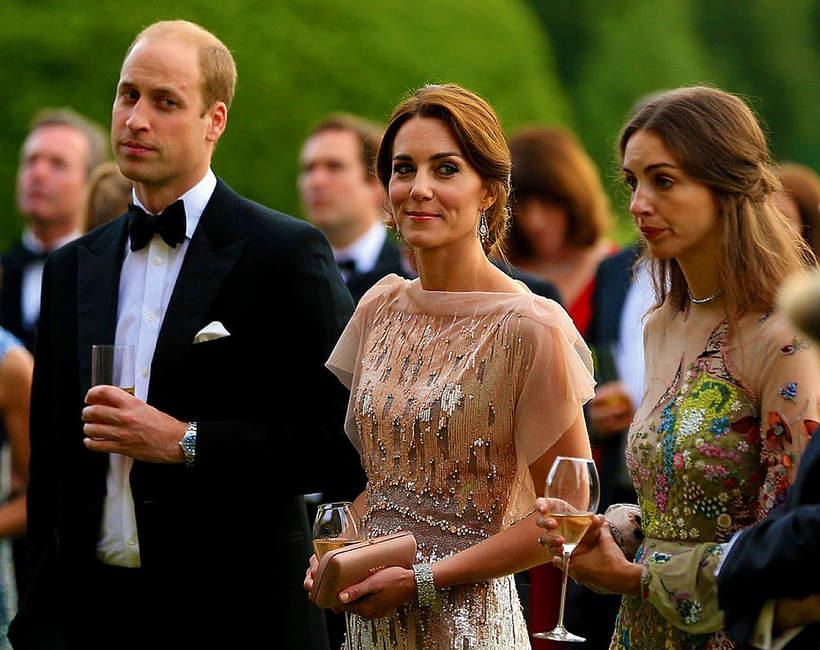 Rose Hunbury, kochanka księcia Williama, na zdjęciu z księżną Kate