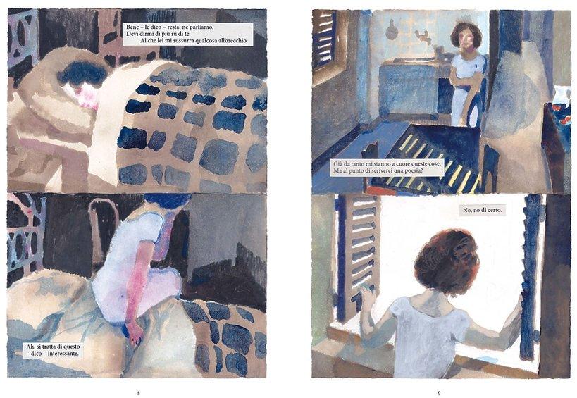 Rozkładówka komiksu o Wisławie Szymborskiej