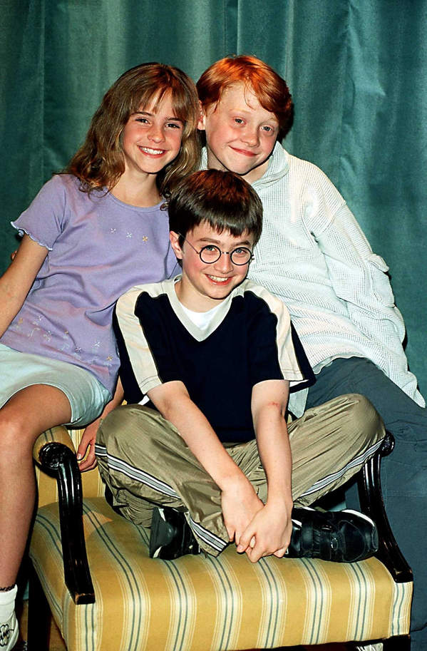 Rupert Grint, Ron Weasley, Ronald Weasley, Harry Potter, Daniel Radcliffe, Hermiona Granger, Emma Watson, 2000