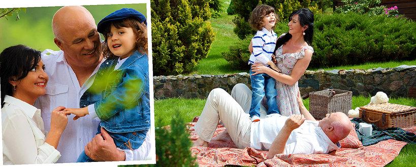 Ryszard Rynkowski z żoną Edytą i synem Ryszardem