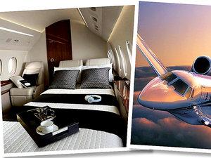 Samolot Jet Luxa, jego wnętrza oraz Kylie Jenner