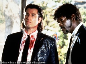 "Samuel L. Jackson i John Travolta w filmie ""Pulp Fiction"""