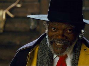 "Samuel L. Jackson w filmie Quentina Tarantino ""Nienawistna Ósemka"""