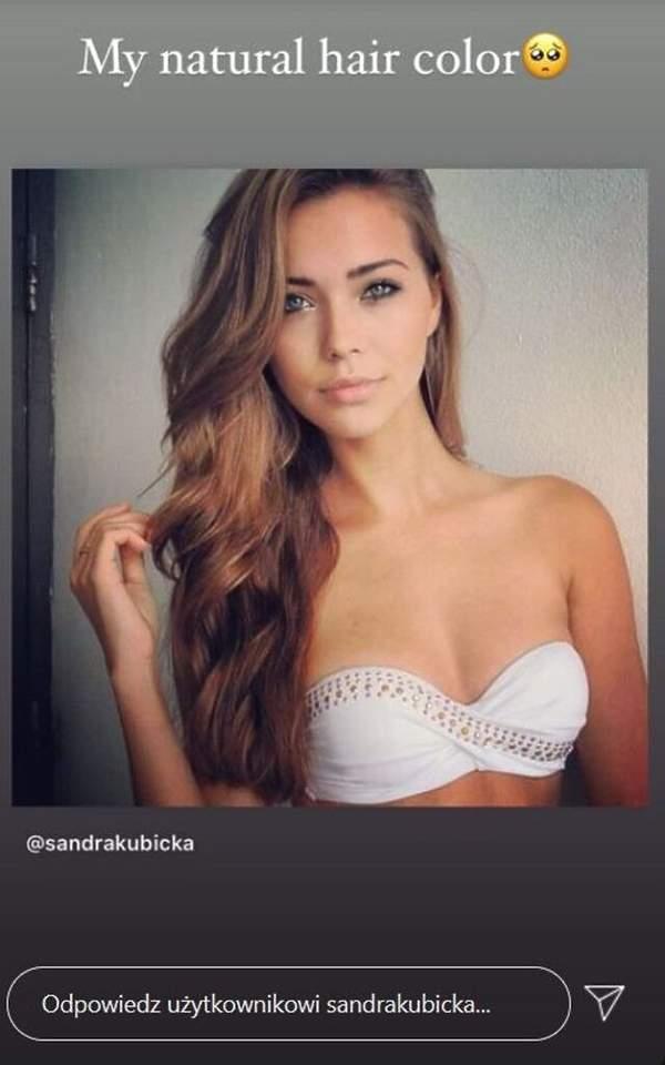 Sandra Kubicka naturalny kolor włosów