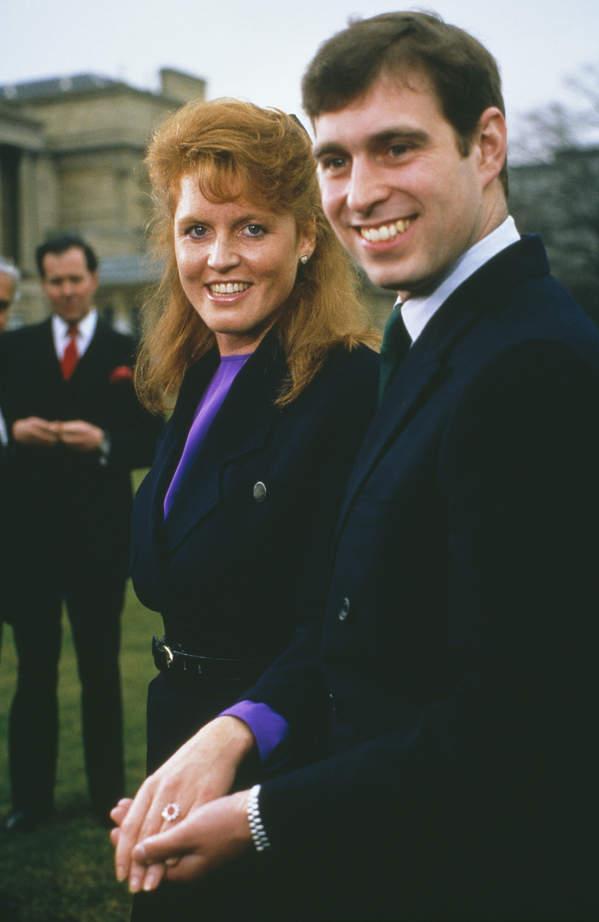 Sarah Ferguson i książę Andrzej w młodości