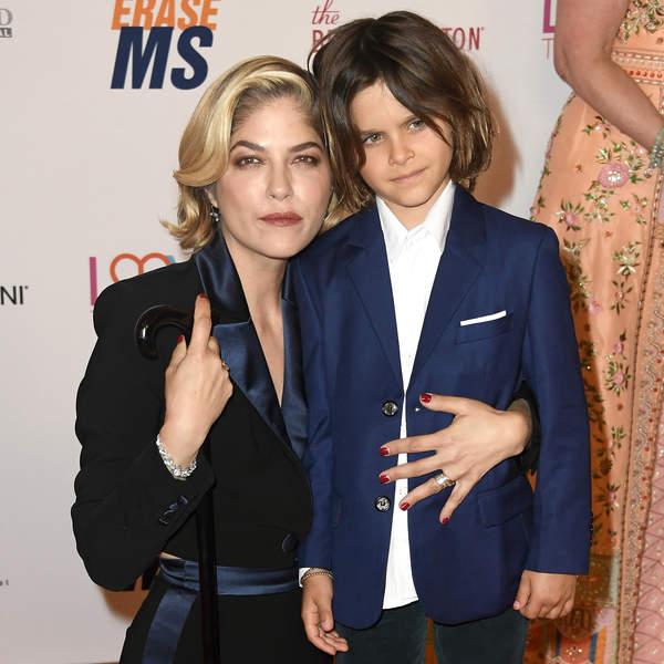Selma Blair z synem, 2019