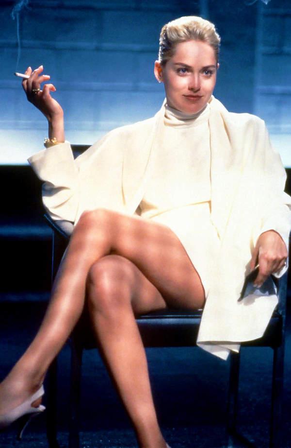 Sharon Stone, Nagi instynkt, sceny seksu w filmach