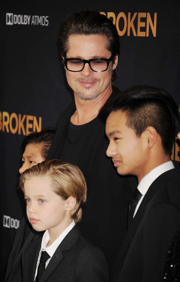 Shiloh Jolie-Pitt, Maddox Jolie-Pitt, Pax Jolie-Pitt, Brad Pitt