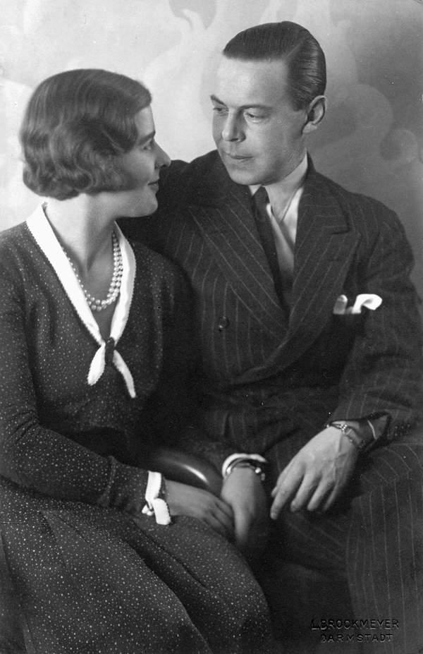 Siostra księcia Filipa: Księżniczka Małgorzata z mężem, książę Gottfried Hohenlohe-Langenburg