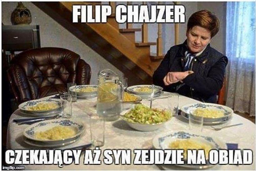 skandaliczny mem z Filipem Chajzerem