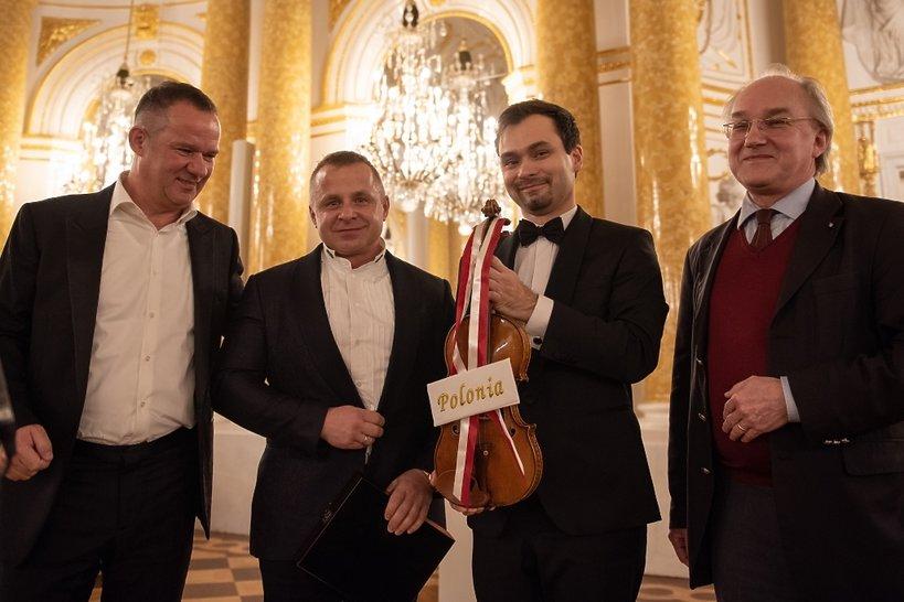 Skrzypce Stradivarius Polonia, Janusz Wawrowski, Roman Ziemian i Stephan Morgenstern