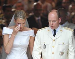 Ślub księżnej Monako łzy