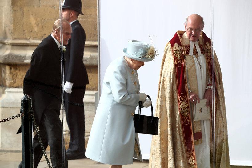 Ślub księżniczki Eugenii, królowa Elżbieta II, książę Filip