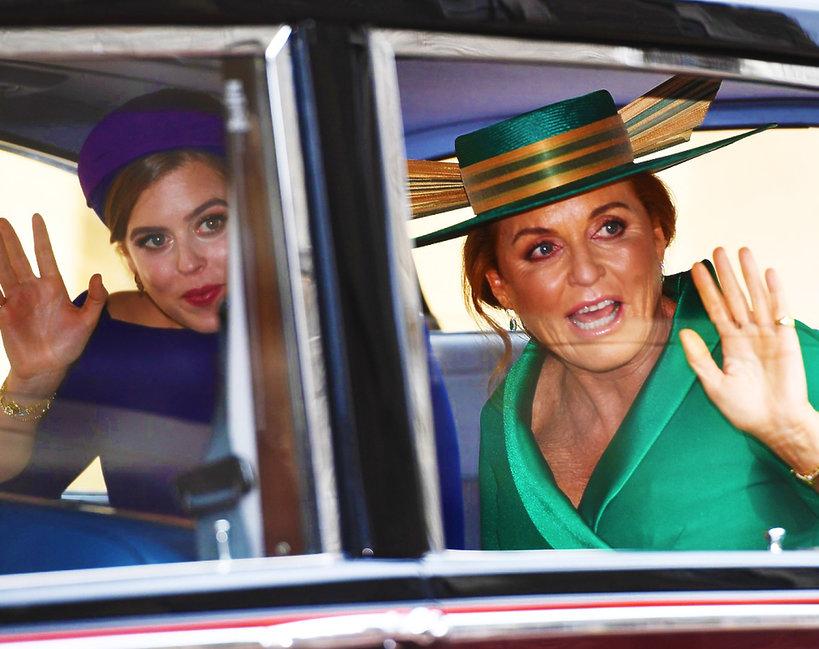 Ślub księżniczki Eugenii, księżniczka Beatrycze, księżna Sarah