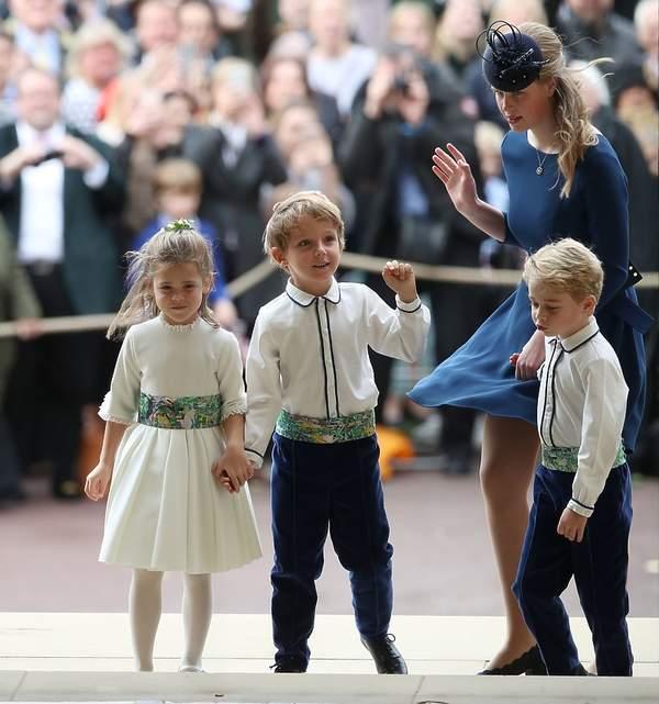 Ślub Księżniczki Eugenii, księżniczka Charlotte i książę George