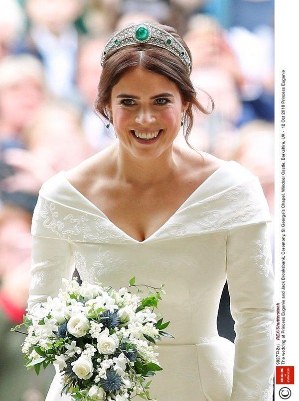 ślub księżniczki Eugenii, makijaż i fryzura