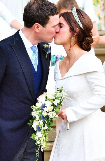 ślub księżniczki Eugenii, pocałunek