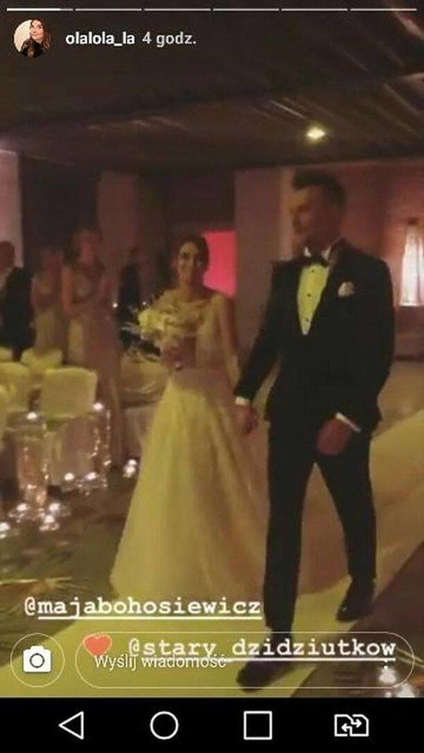 Ślub Mai Bohosiewicz - suknia ślubna