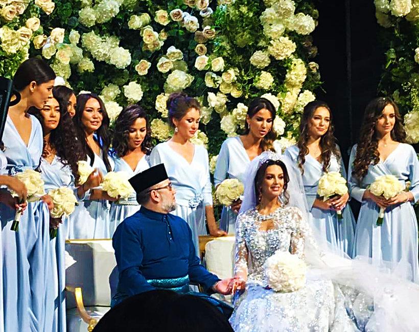 Ślub Miss Moskwy i Króla Malezji