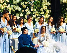 """Na weselu nie było alkoholu, a potrawy były """"halal"""", czyli ślub Króla Malezji i Miss Moskwy"""