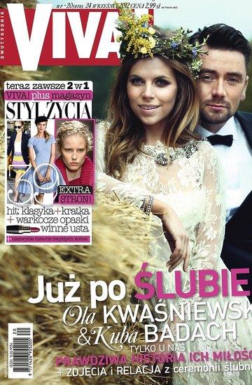Ślub Oli Kwaśniewskiej i Kuby Badacha na okładce Vivy! Wywiad, sesja