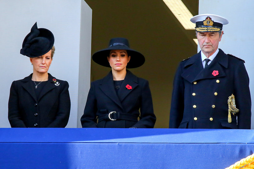 Sophie, Countess of Wessex, Meghan, Duchess of Sussex and Tim Laurence