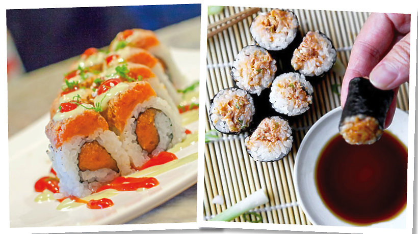 Spicy salmon suchi roll