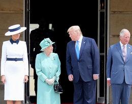 Spotkanie Donalda Trumpa z królową Elżbietą II, Donald Trump, królowa Elżbieta II, Melania Trump, książęKarol, księżna Camilla