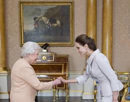 spotkanie królwej Elżbiety II z Angelina Jolie
