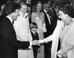 spotkanie królwej Elżbiety II z Dustin Hoffman i Meryl Streep