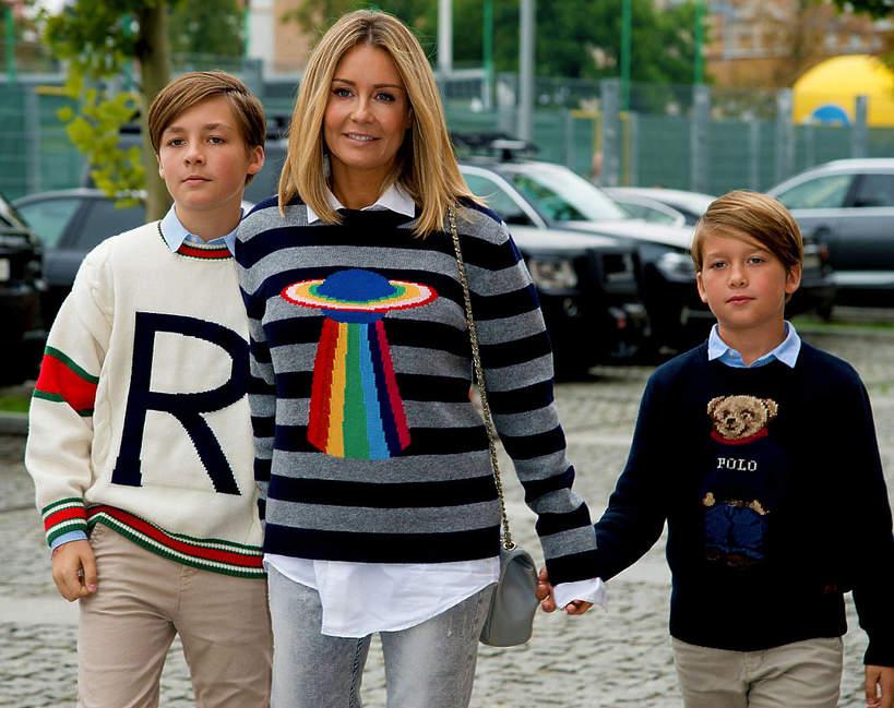 Stanisław Rozenek, Małgorzata Rozenek-Majdan z synami, Tadeusz Rozenek