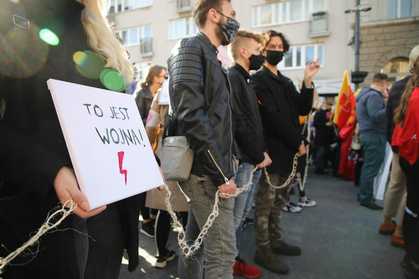 Strajk Kobiet, Łódź, 28 października