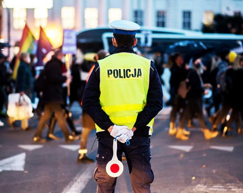 Strajk kobiet, policja